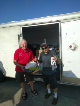 a-Peter and Gil Unload Trailer